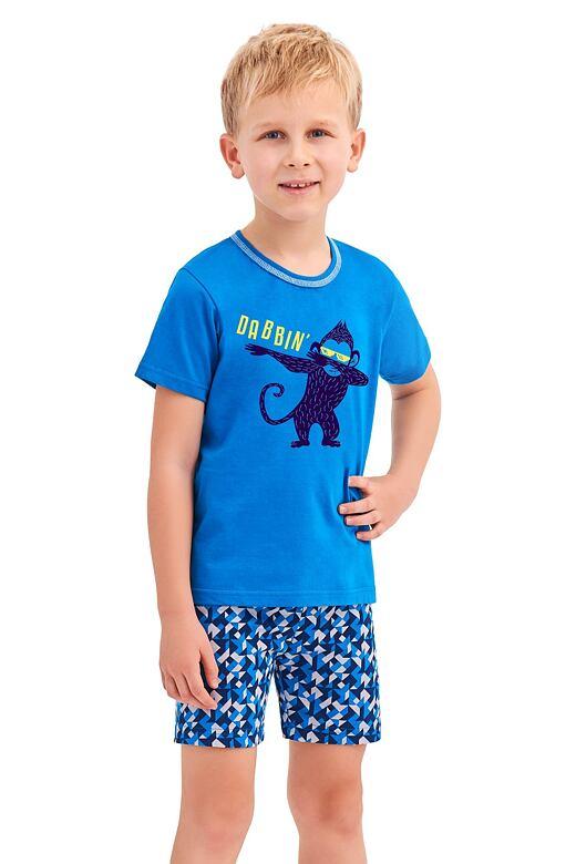 Chlapčenské pyžamo Damián modré opice