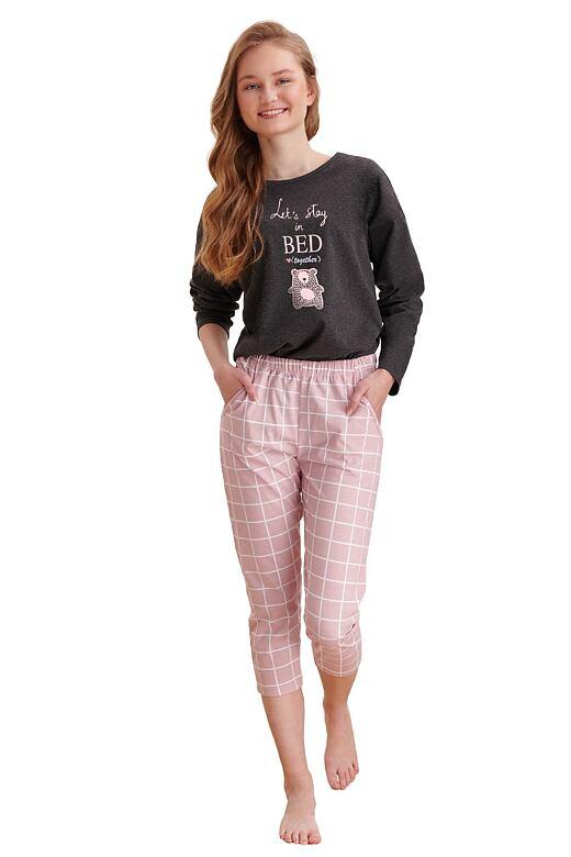 Dievčenské pyžamo Molly tmavo sivé