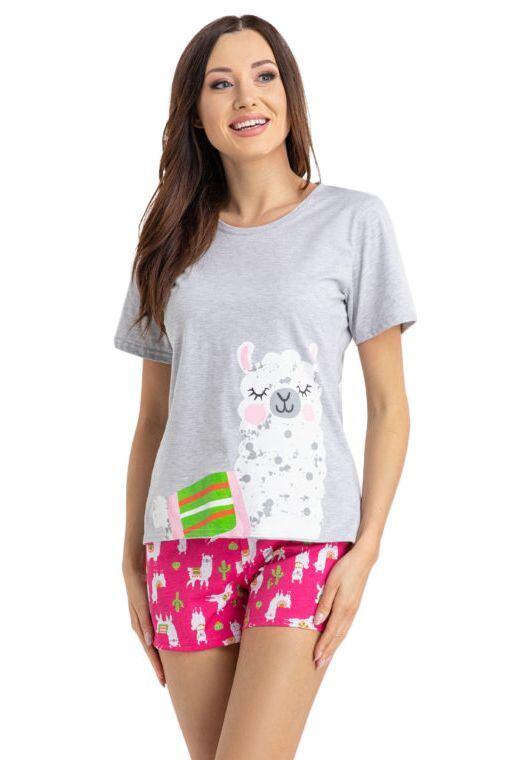 Dámske pyžamo Alpaka svetlo sivé