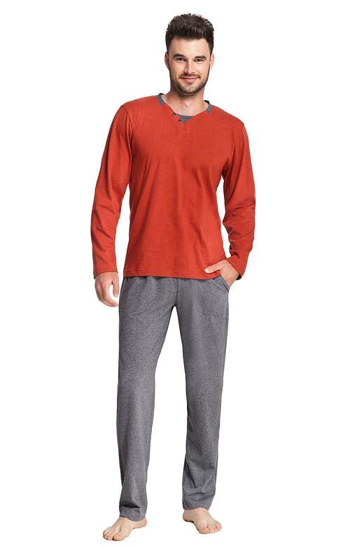 Pánske pyžamo Thomas oranžové