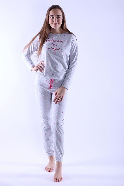Dámske pyžamo Camila sivé magic
