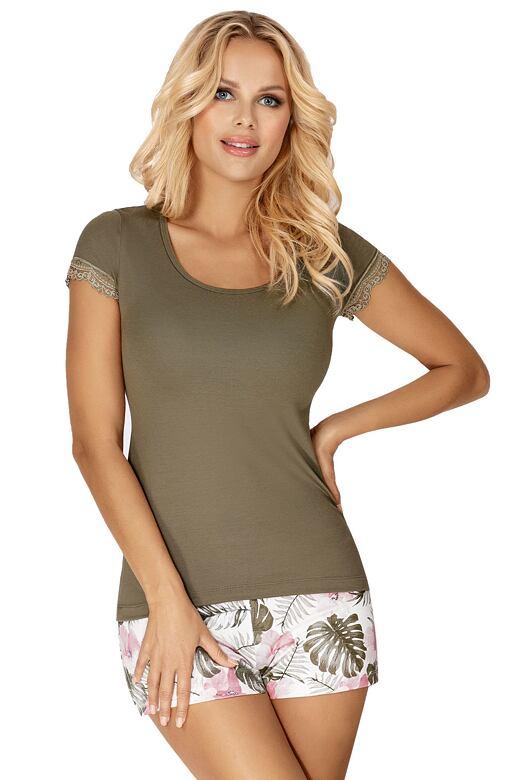 Luxusné dámske pyžamo Mila khaki