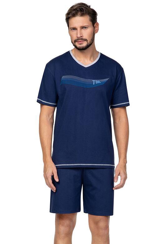 Pánske pyžamo Toby tmavo modré