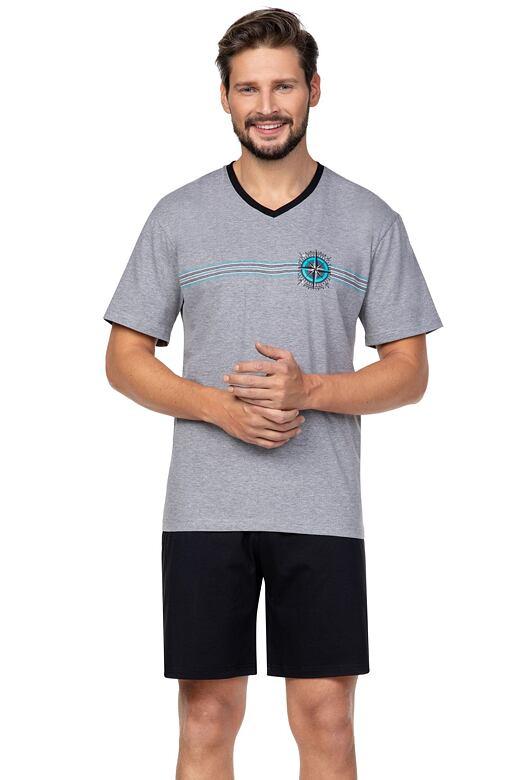 Pánske pyžamo Compass sivé