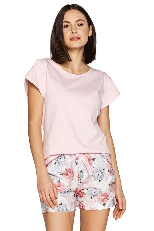 Dámske pyžamo Freya ružové s kvetinami