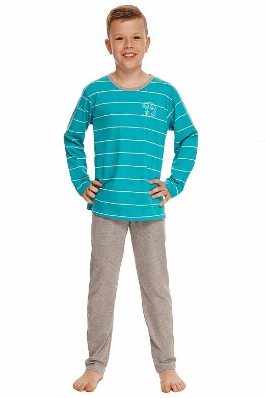 Chlapčenské pyžamo Harry tyrkysové s pruhmi