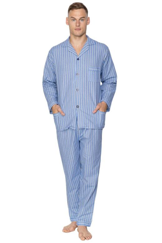 Pánske flanelové pyžamo Arnold modré