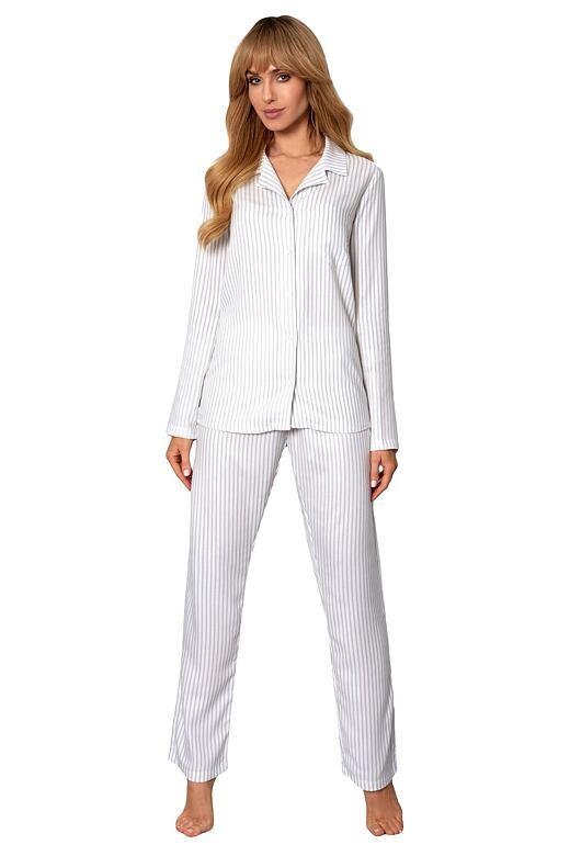 Klasické dámske pyžamo Anna pruhy