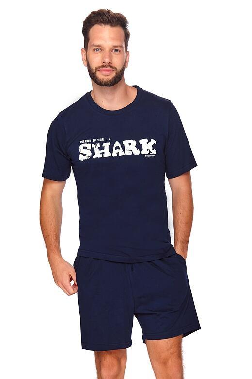 Pánske pyžamo Shark tmavo modré