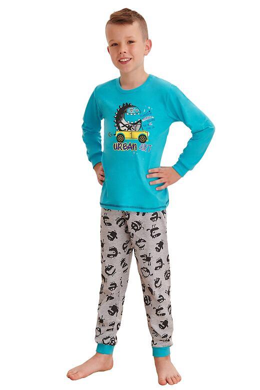 Chlapčenské pyžamo Miloš street tyrkysové