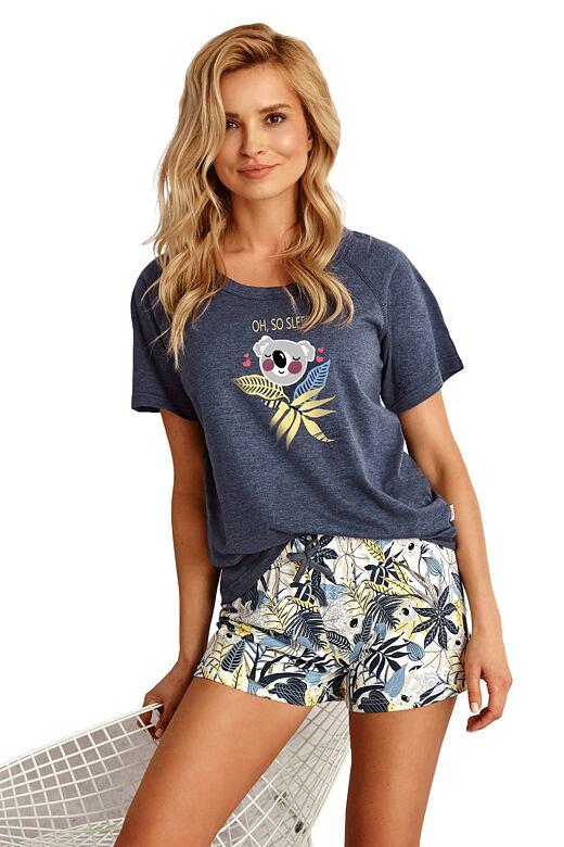 Dámske pyžamo Aurelia tmavo modré s koalou