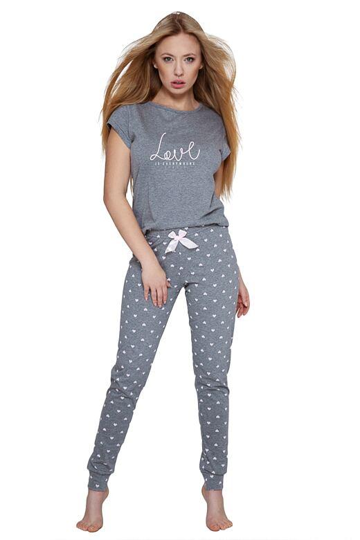 Dámske pyžamo Lucia sivé