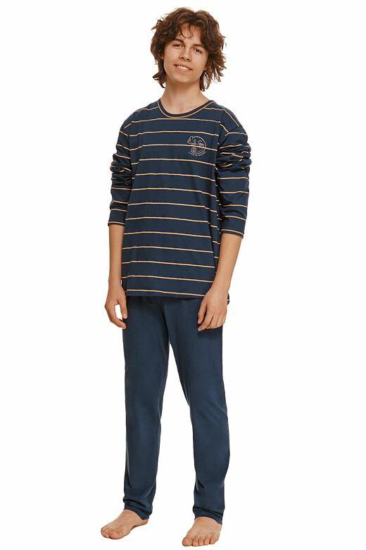 Chlapčenské pyžamo Harry modré s pruhmi
