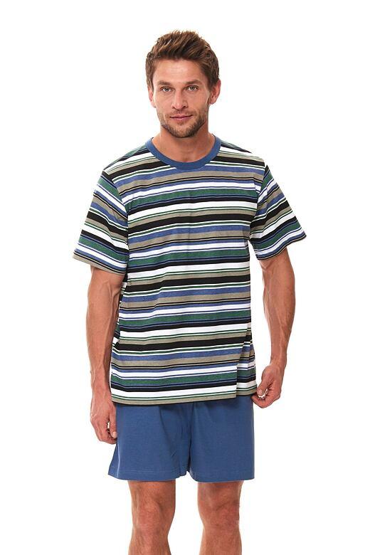 Pánske krátke pyžamo Viktor s pruhmi