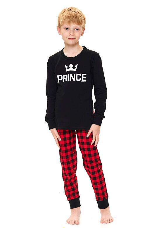 Chlapčenské pyžamo Prince čierne