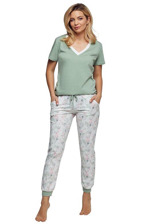 Luxusné dámske pyžamo Denisa zelené