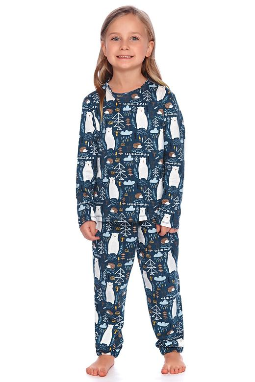Detské pyžamo Les tmavo modré s medveďmi