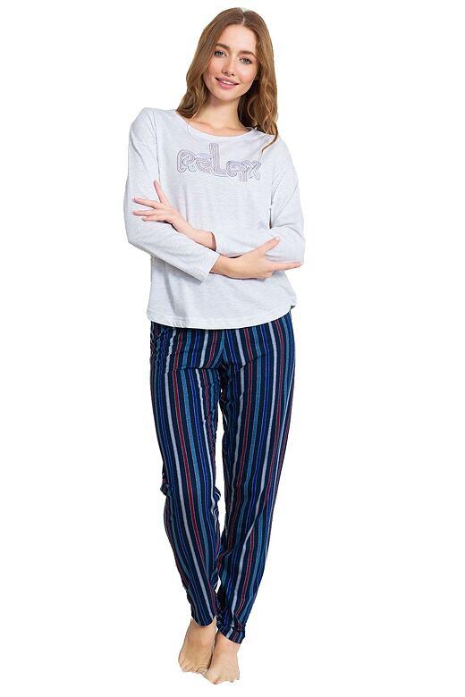 Dámske pyžamo Stacy sivé relax