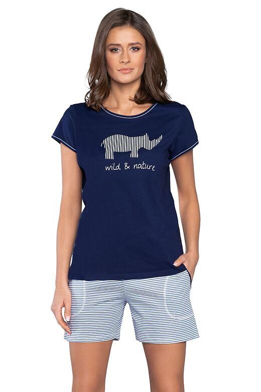 Dámske pyžamo Lorina tmavo modré