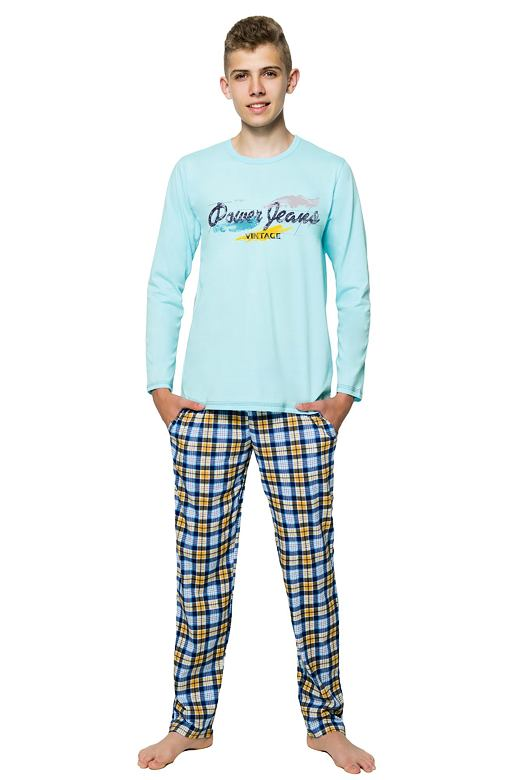 Chlapčenské pyžamo s nápisom Marián tyrkysové