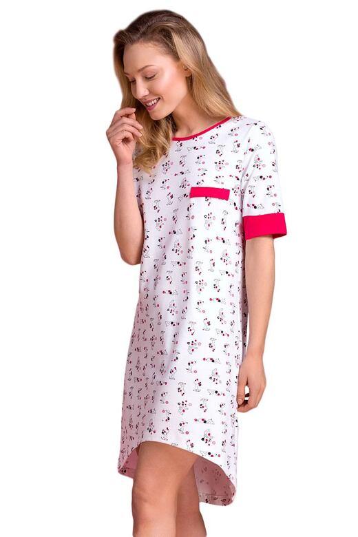 Bavlnená nočná košeľa Klaudie psíkovia - darčekové balenie