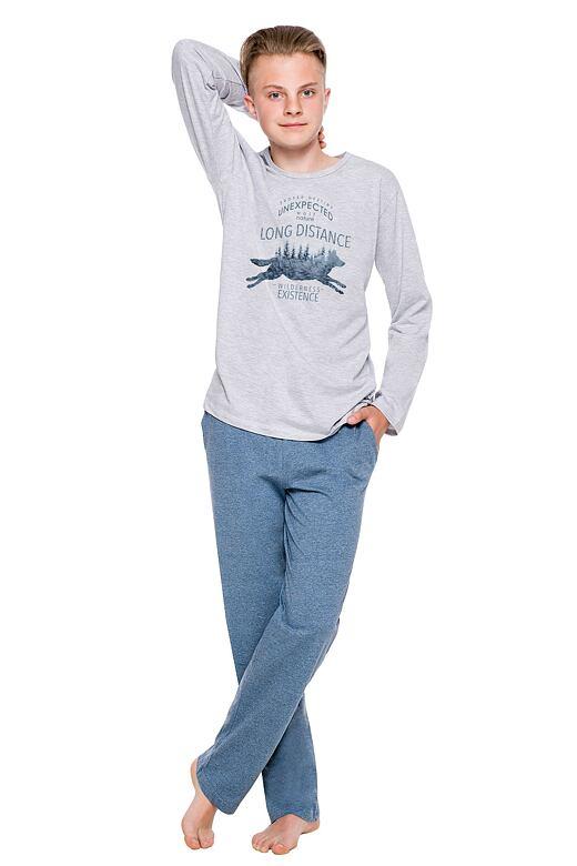 Chlapčenské pyžamo Kája šedé