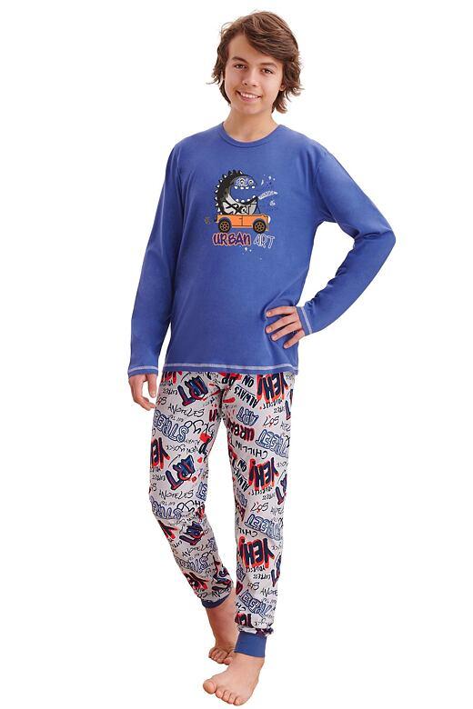 Chlapčenské pyžamo Miloš tmavo modré