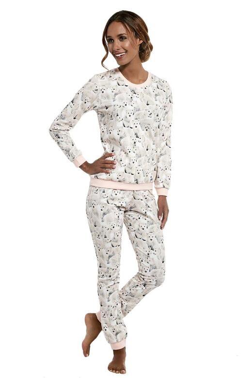 Dámske pyžamo Polar bear béžové - darčekové balenie