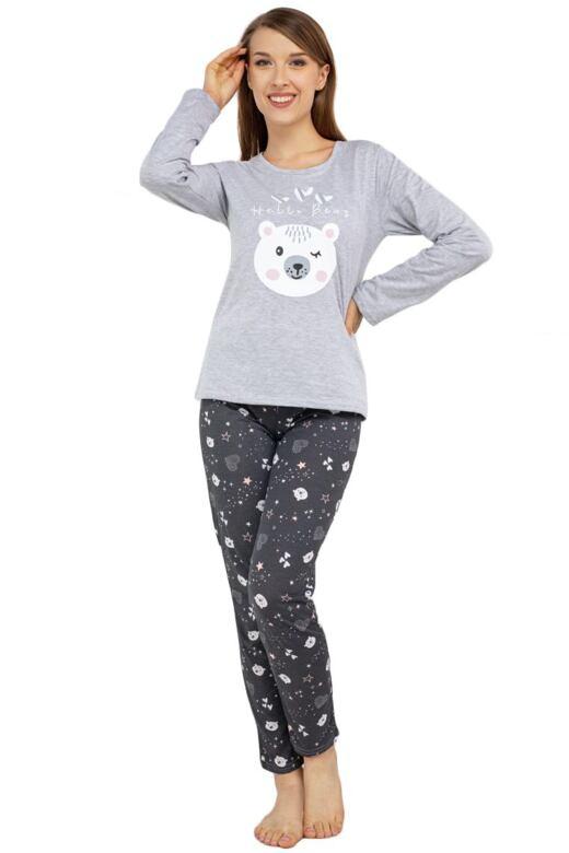 Veselé pyžamo Hello bear sivé