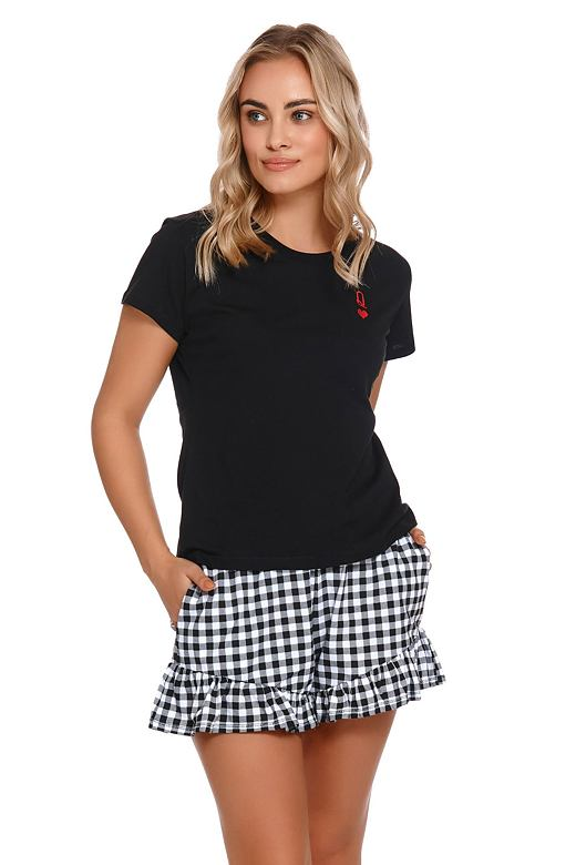 Krátke dámske pyžamo Queen čierne