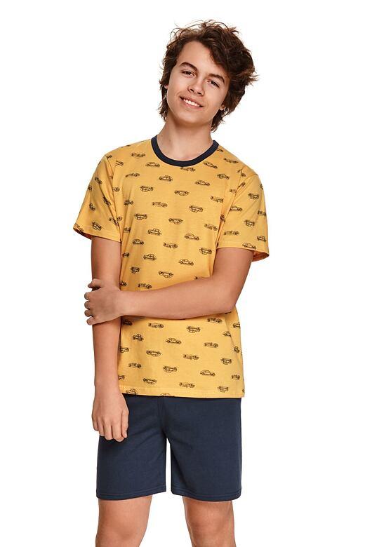 Chlapčenské pyžamo Max žlté s autami