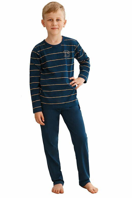 Chlapčenské pyžamo Harry tmavo modré s pruhmi