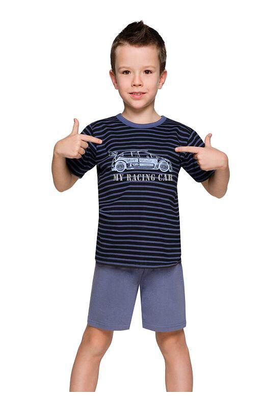 Chlapčenské pyžamo s autom Max prúžky