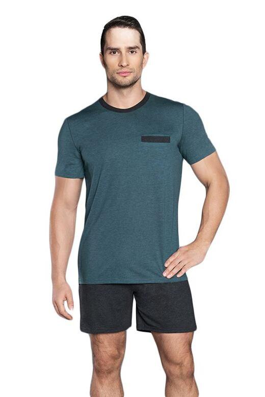 Pánske pyžamo Fabian tmavo zelené