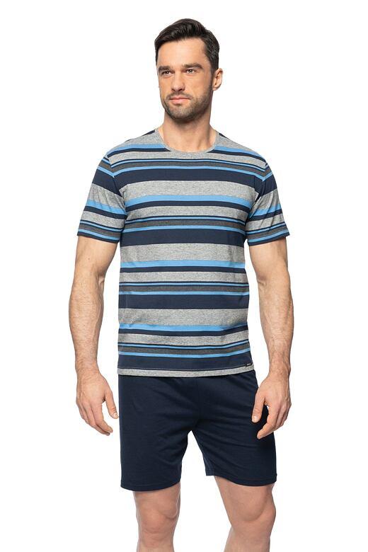Krátke pánske pyžamo Petr šedé