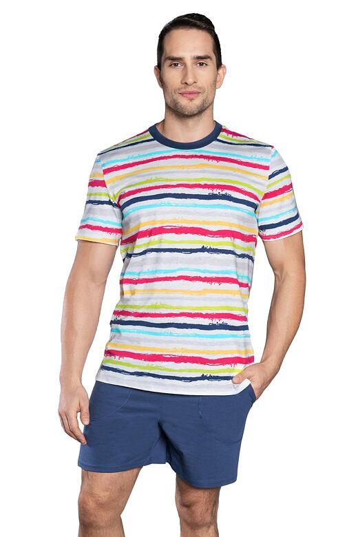 Pánske pyžamo Domino farebné pruhy