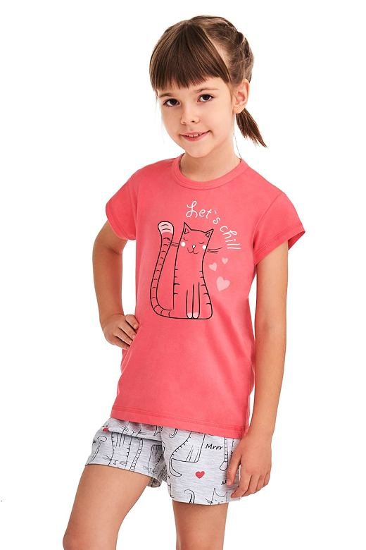 Dievčenské pyžamo Hanička ružové Lets chill