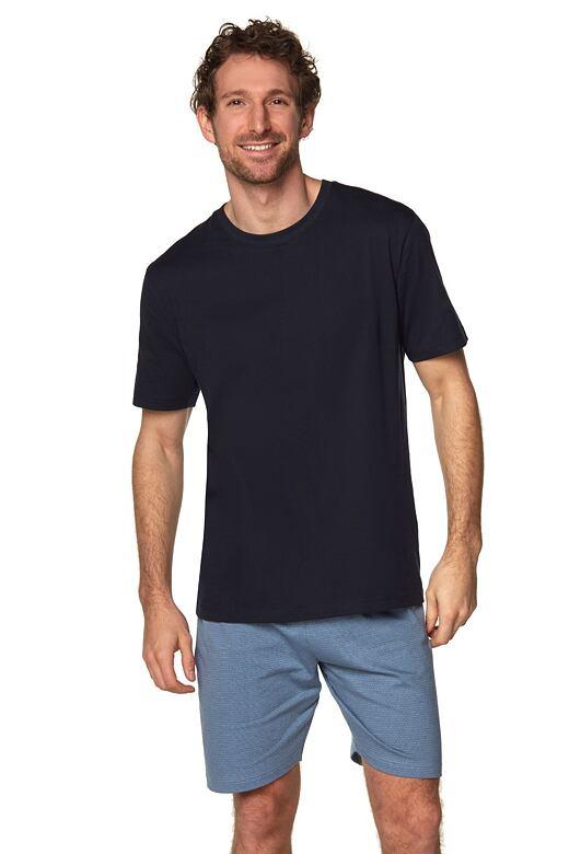 Pánske pyžamo Airon čierne so vzorom.