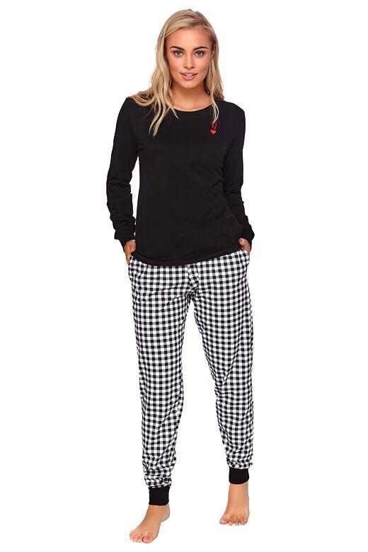 Dámske čierne pyžamo Queen