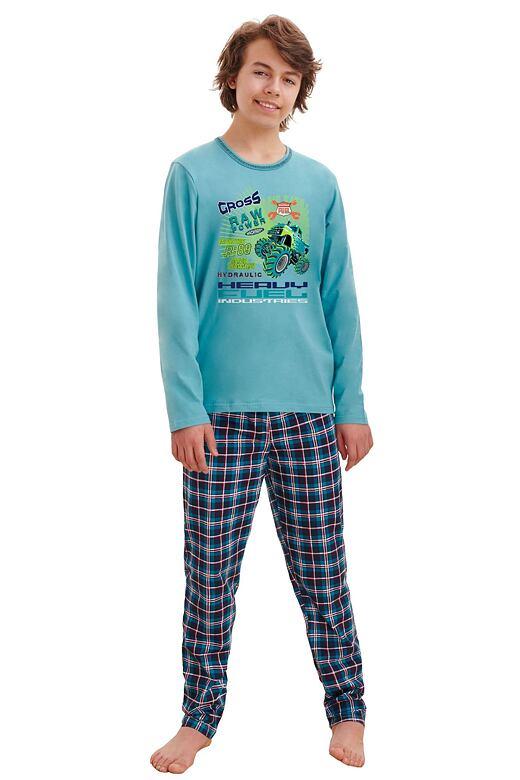 Chlapčenské pyžamo Leo cross modré
