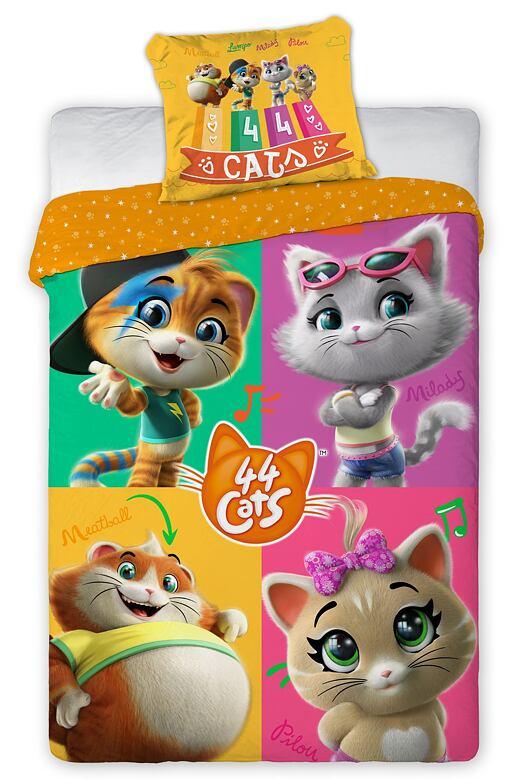 Detské obliečky 44 Cats oranžové