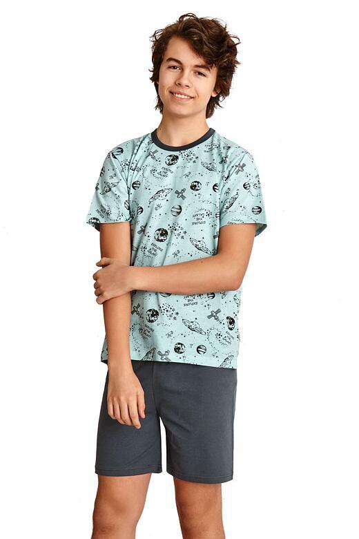Chlapčenské pyžamo Max modré vesmír