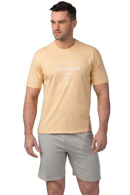 Pánske bavlnené pyžamo Matt žlté