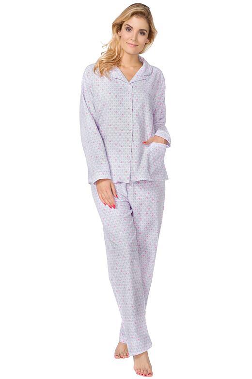 Dámske flanelové pyžamo Lenka so vzorom XXL