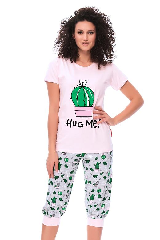Dámske pyžamo Hug me s kaktusmi