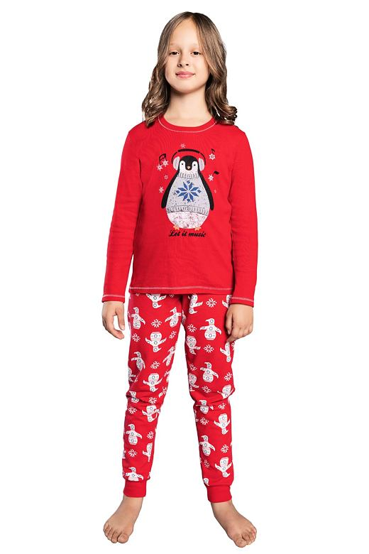 Dievčenské pyžamo Malika červené tučniak