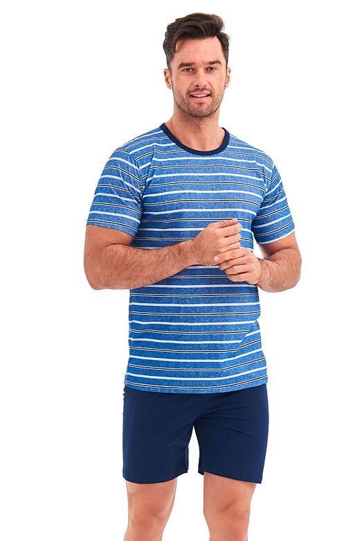 Pánske pyžamo Corin modré prúžky