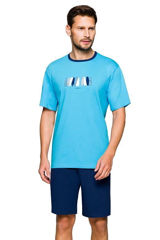 Pánske pyžamo Mark summer modré