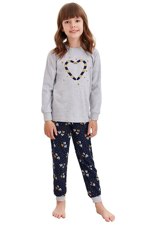 Detské pyžamo Ada šedé s vianočnými paličkami