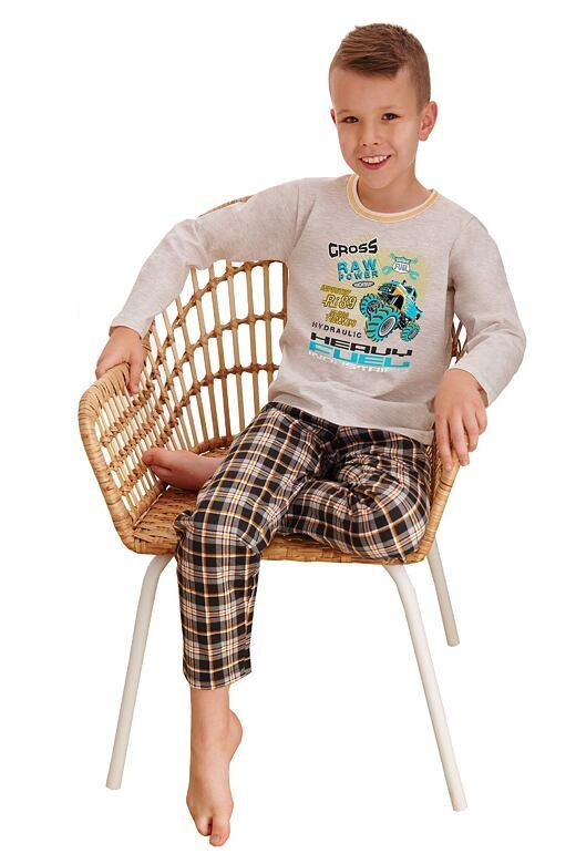 Chlapčenské pyžamo Leo cross power béžové
